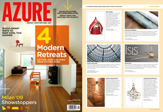 Stained glass dome featyred in product source azure magazine