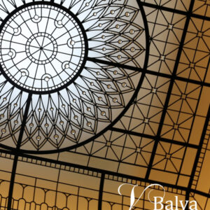barrel vault stained and leaded glass light ceiling custom built home in Toronto
