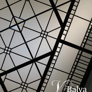 Bathroom leaded glass skylight in simple classic style