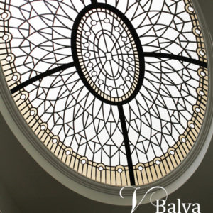 classic design leaded glass oval dome skylights for a custom built house in King City