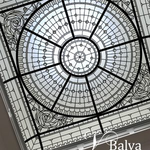 traditional classic barrel vaulted stained glass skylight
