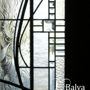 modern art abstract leaded glass front door