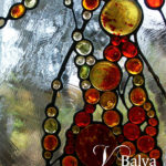 contemporary art glass windows with glass nuggets and clear textured duncan glass