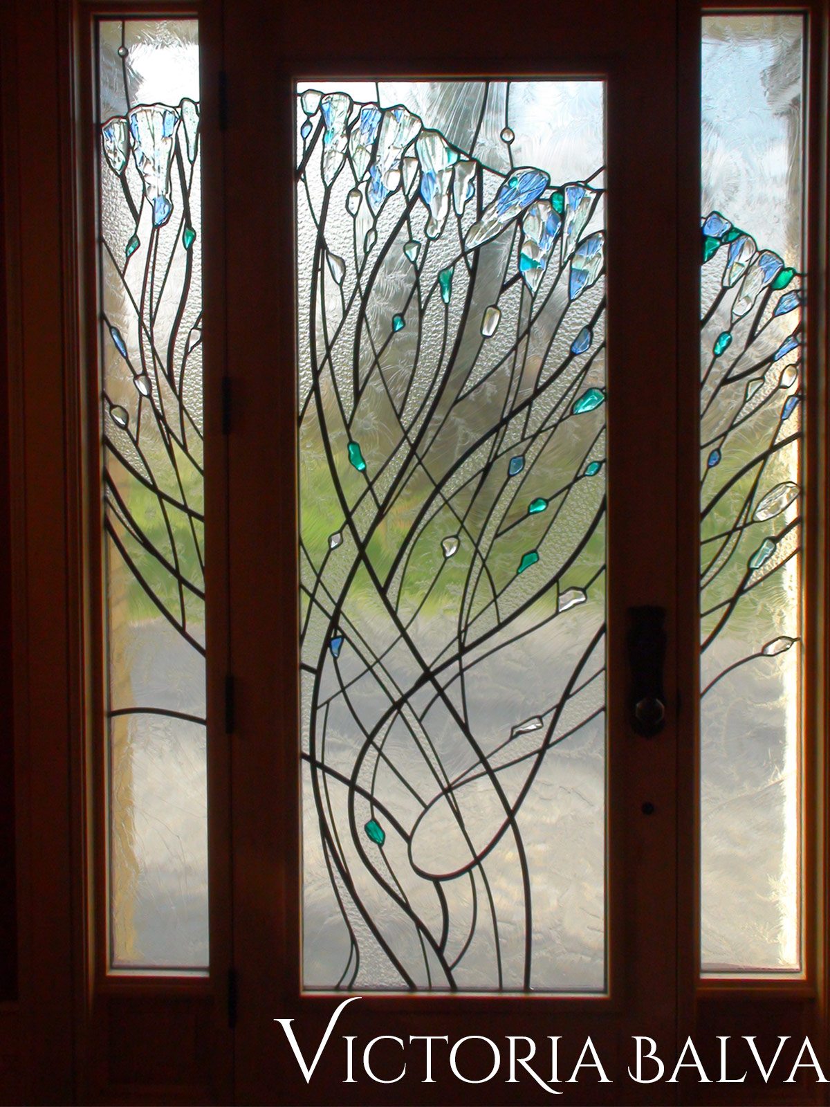 Victoria balva glass studio stained fused and leaded glass jays tree fused and leaded glass doorlights planetlyrics Image collections