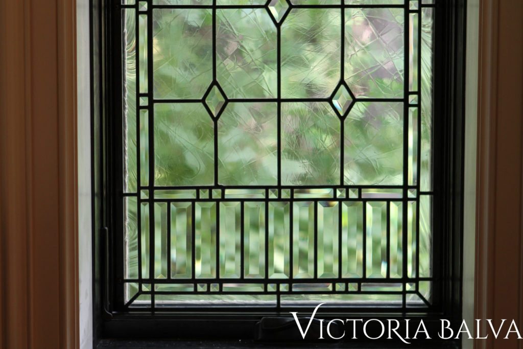 Classic leaded glass windows for a dining room Mississauga Rd 2