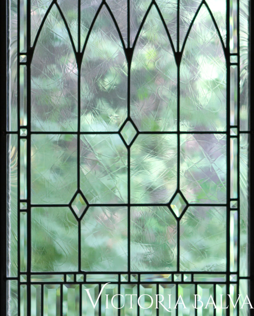 Classic leaded glass windows for a dining room Mississauga Rd 1