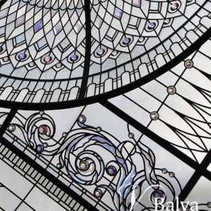 Vaulted and domed stained and leaded glass skylights