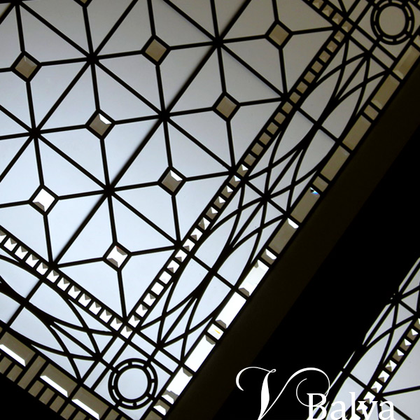 Leaded glass skylight in English Manor style