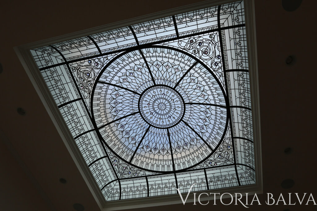 Roof domed skylight with hand bevelled glass and crystal jewels