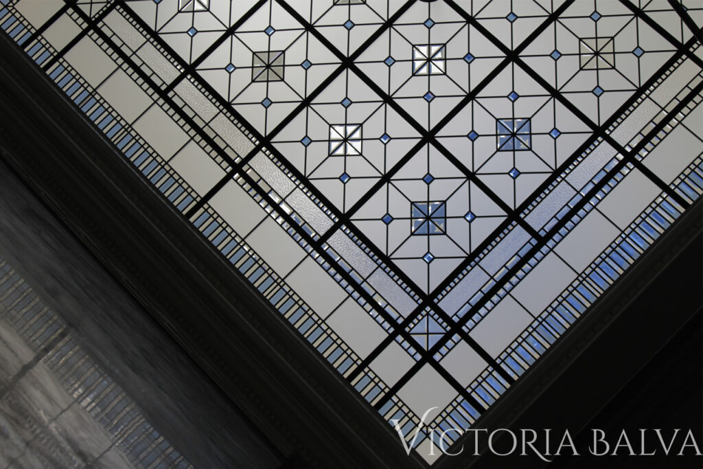 Stained and leaded glass skylights for the custom built homes