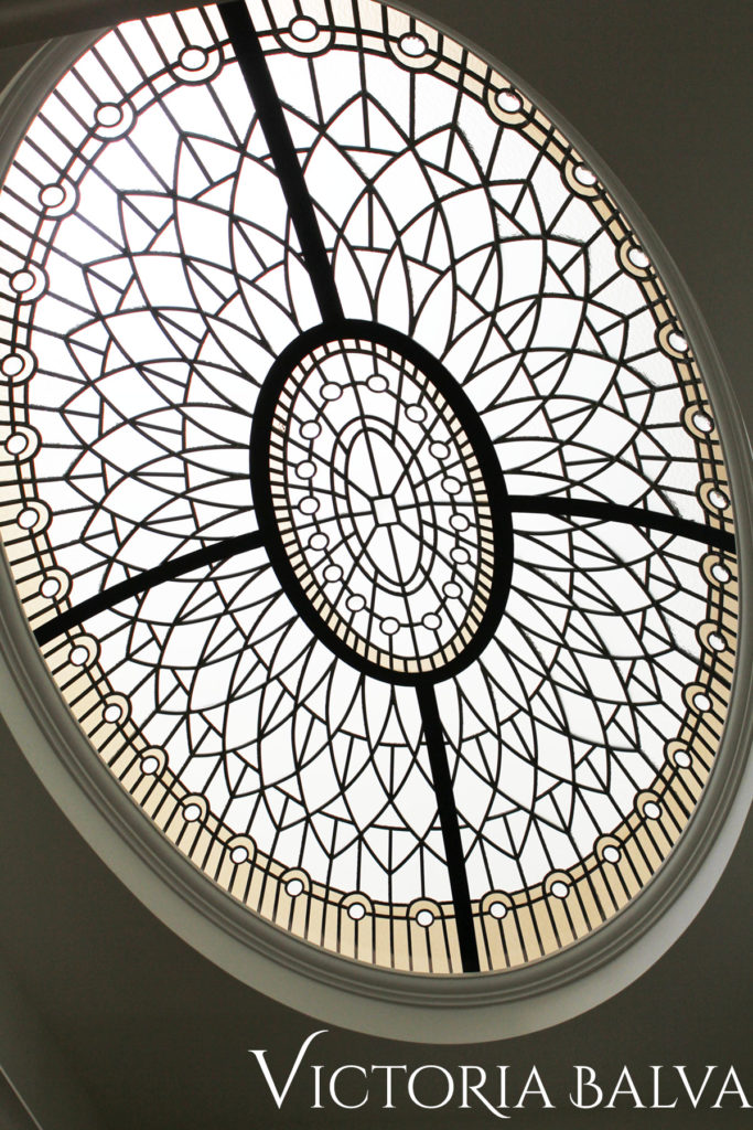classic oval leaded glass dome lay light for a custom built house in King City