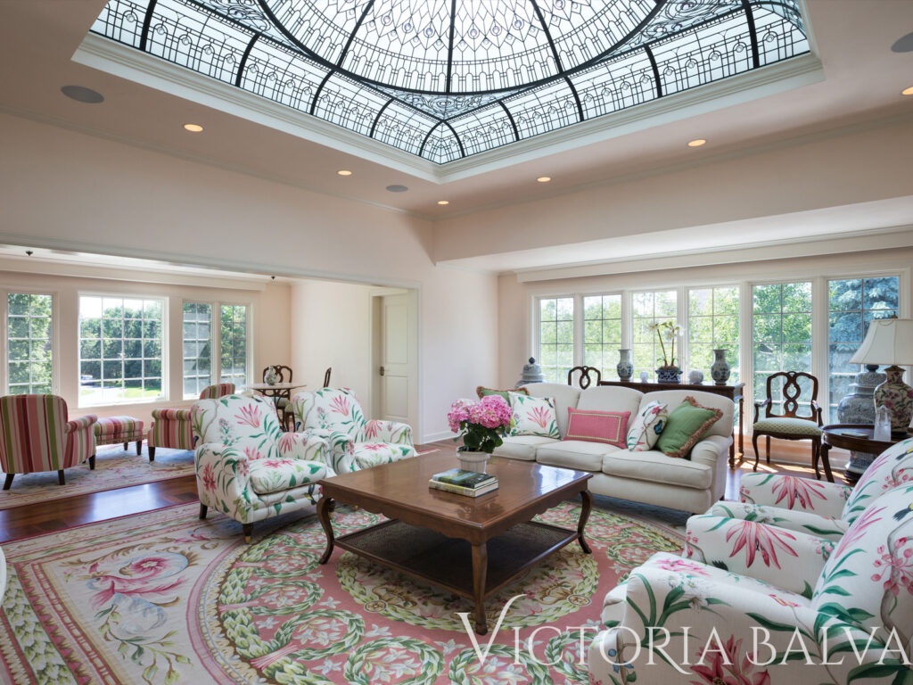 Large custom built house with meditation room and stained glass dome
