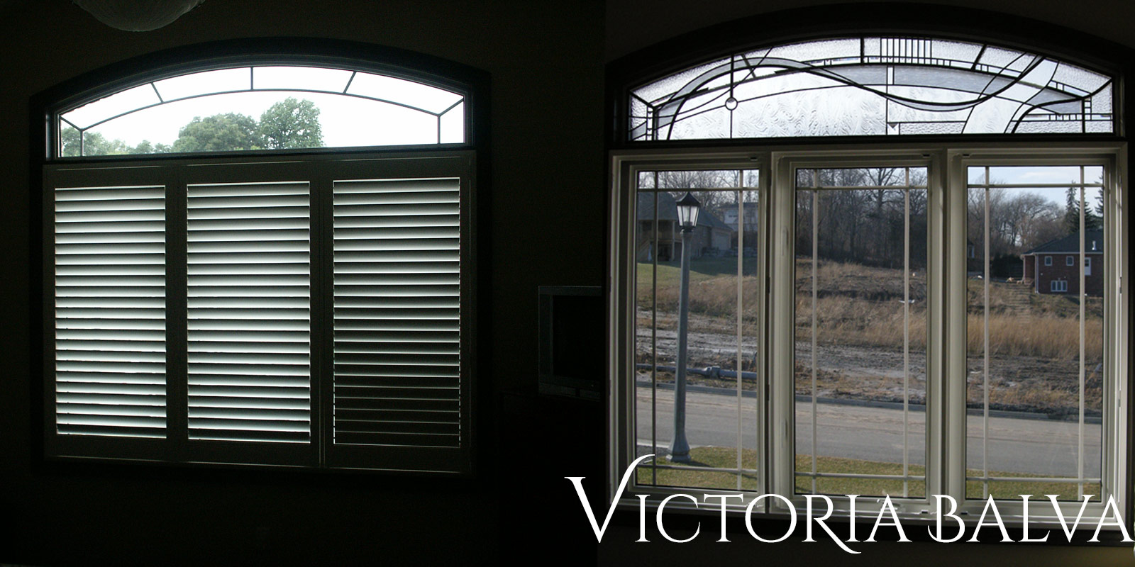 Contamporary leaded glass bedroom transom with jewels and beveled glass adding privacy and beauty