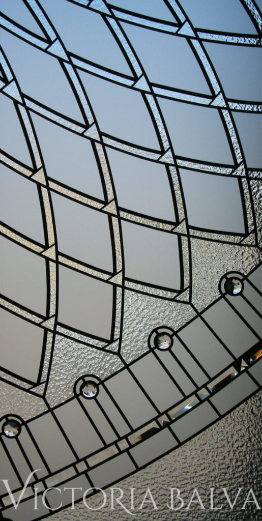 Classically modern leaded glass door insert