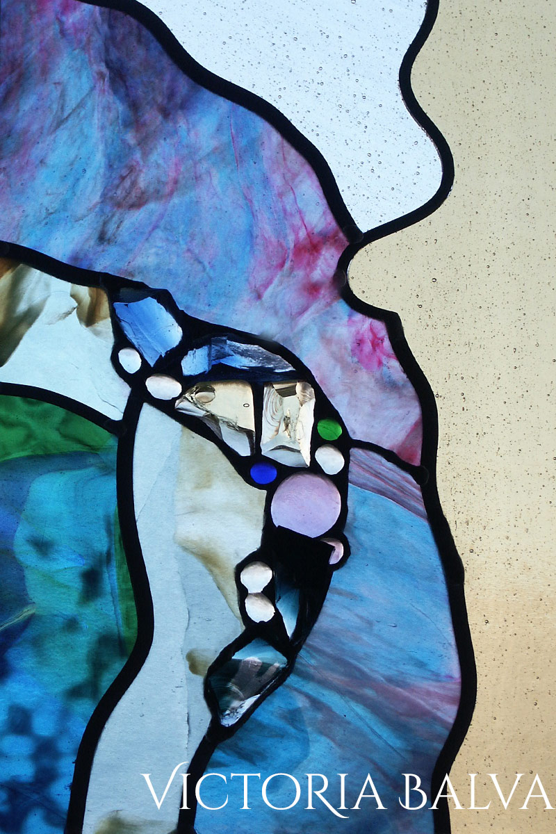 Image of: Abstract Stained And Leaded Glass Sandy Victoria Balva