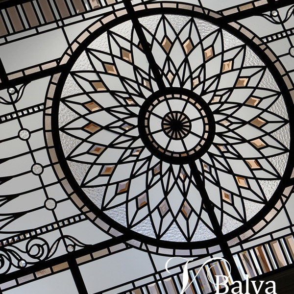 Stained and leaded glass classic skylight