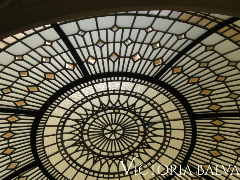 Residential stained glass dome skylight ceiling Summerhill 4