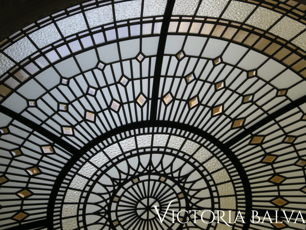 Residential stained glass dome skylight ceiling Summerhill 2