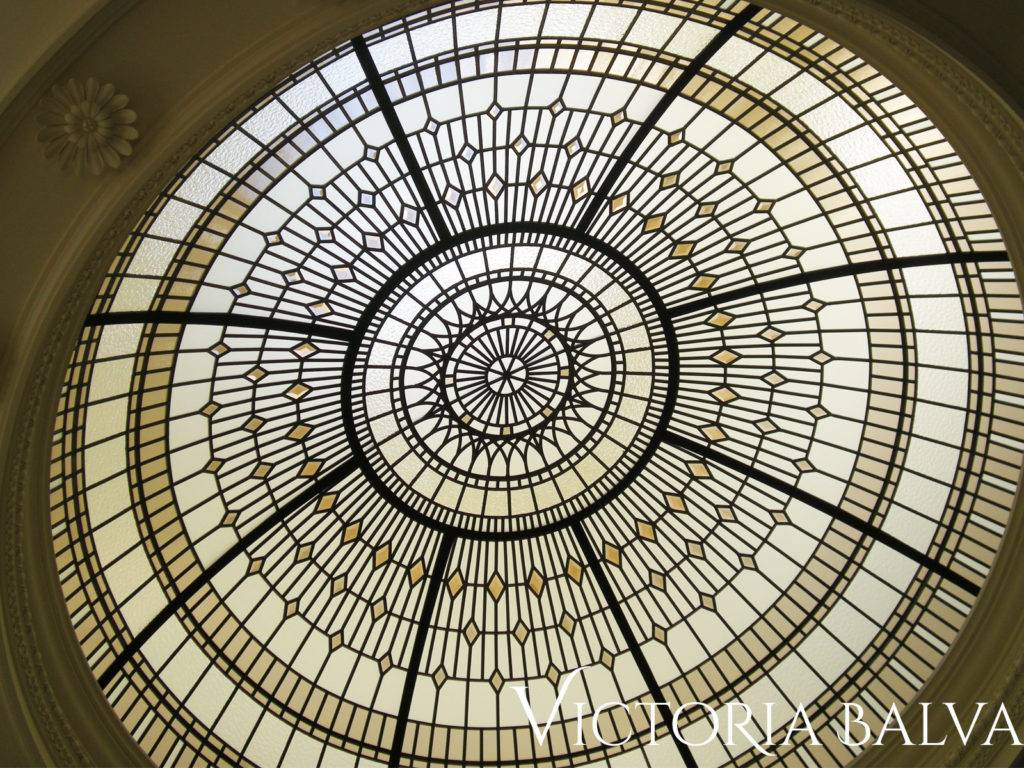Residential stained glass dome skylight ceiling Summerhill 3