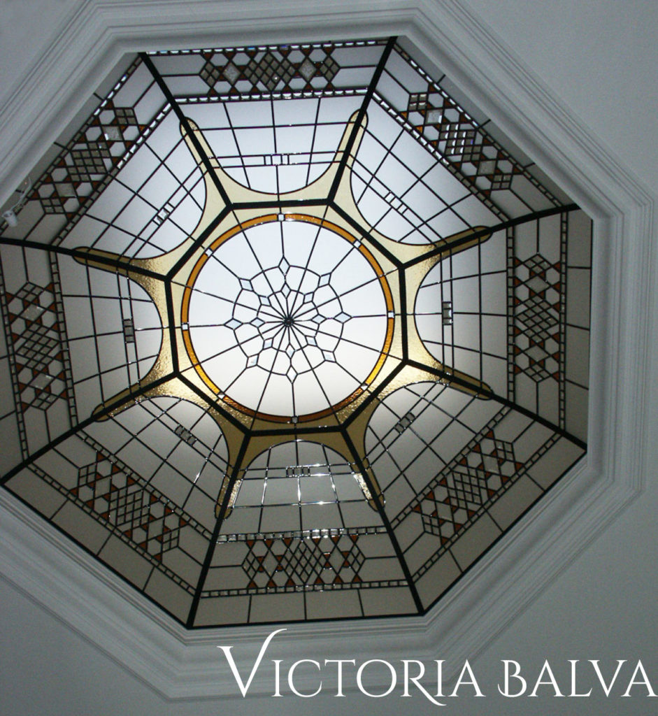 Octagon stained glass dome