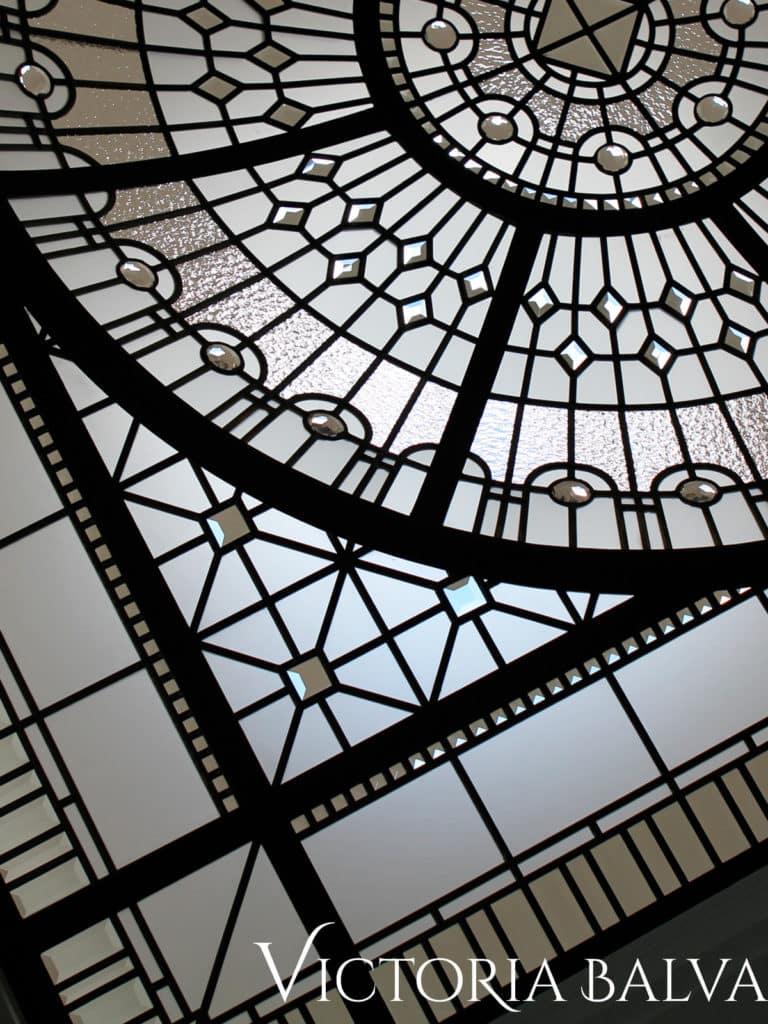 Master bathroom leaded glass dome skylight The Bridle Path 4