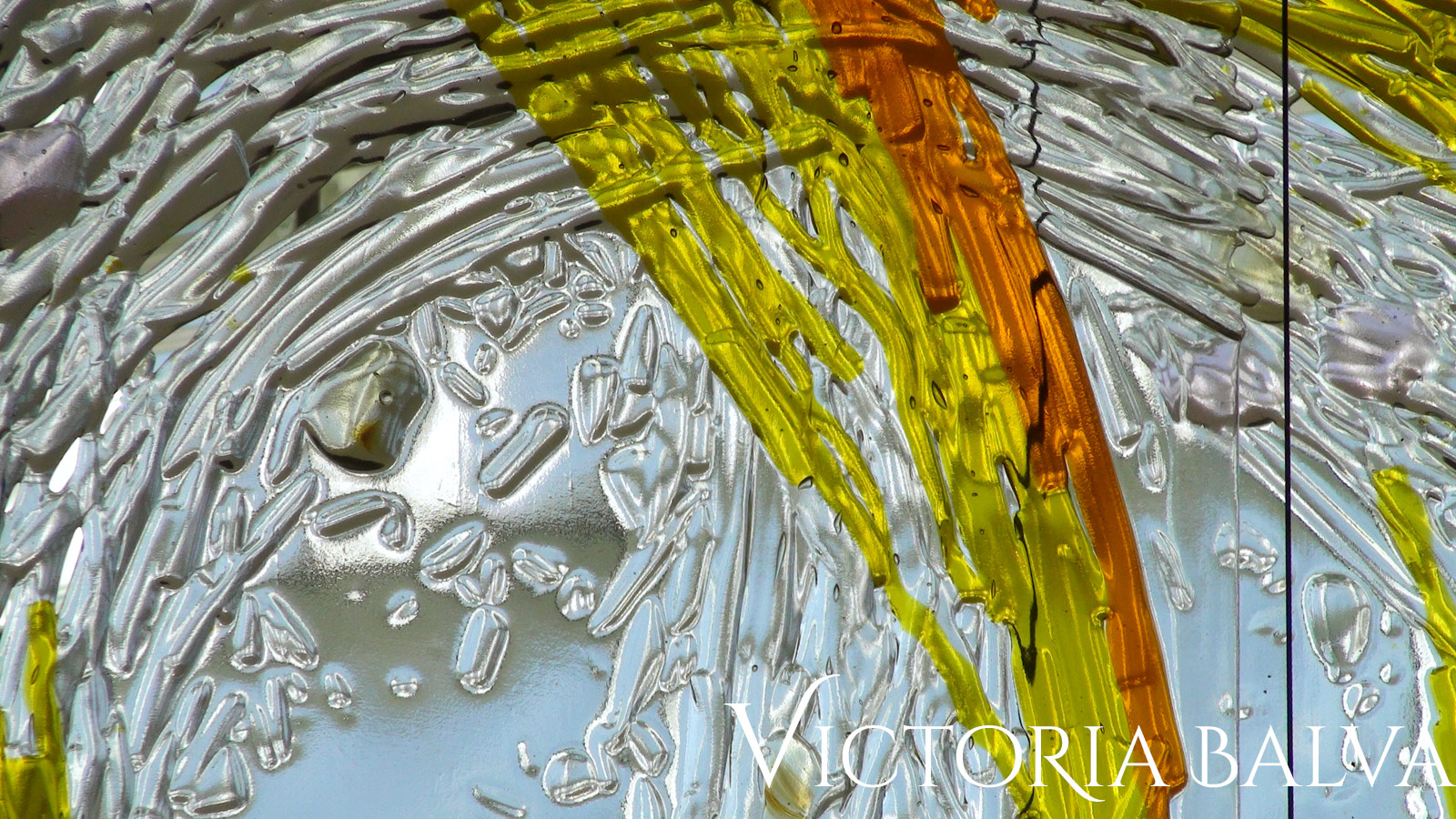 Contemporary abstract decorative glass public art mural