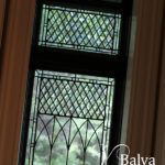 Classic leaded and bevelled glass windows for a dining room and kitchen
